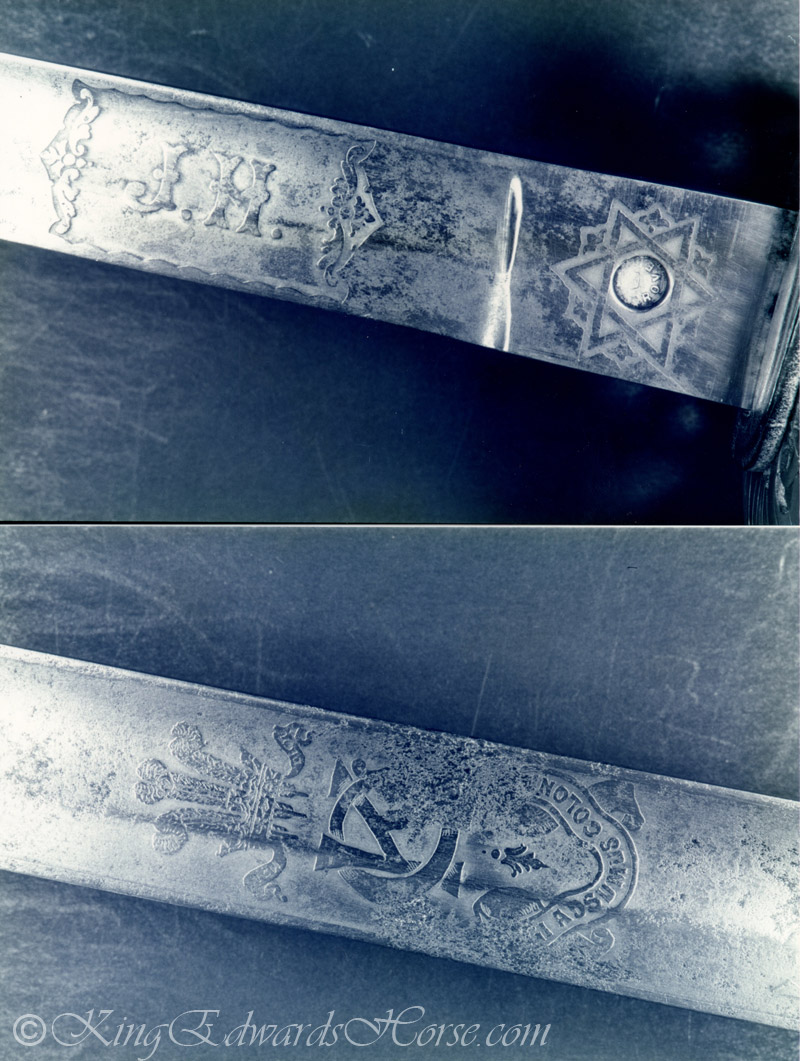 Details on Sword of Major John Howard O.C. Canadian Squadron Kings Colonials